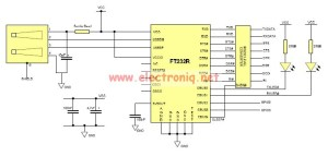 USB to Serial RS232 adapter circuit design electronic project