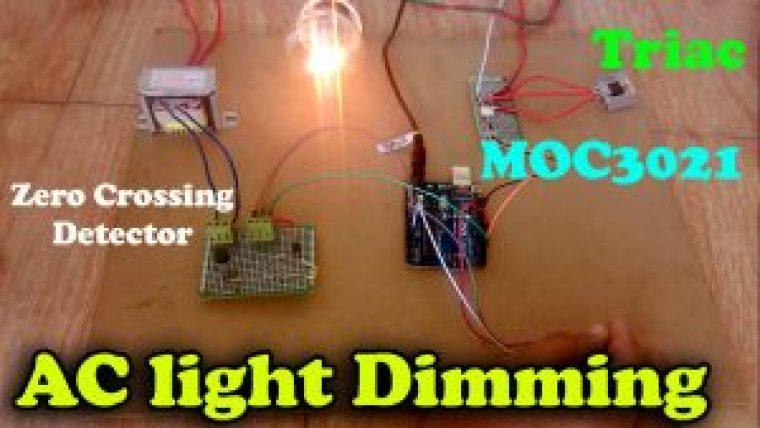 MOC3021 light dimmer