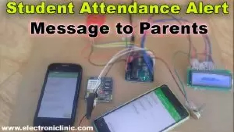 RFID & GSM based student Attendance Alert message to parents