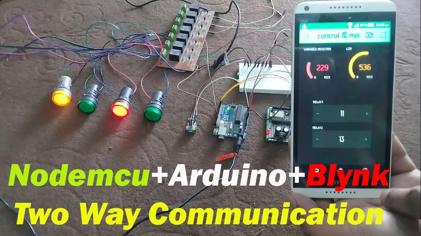 Arduino and Nodemcu two way communication, Control and