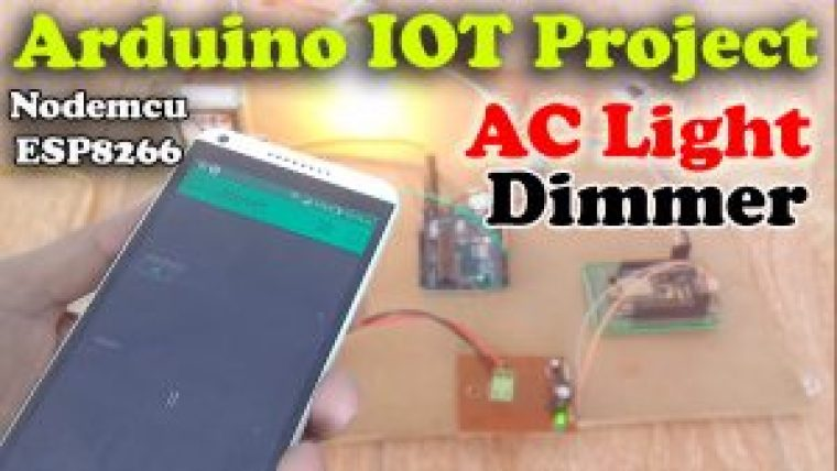 IOT light dimmer using Arduino and Nodemcu esp8266 wifi module