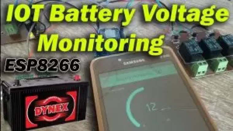 Esp8266 Iot battery monitor, battery voltage monitoring