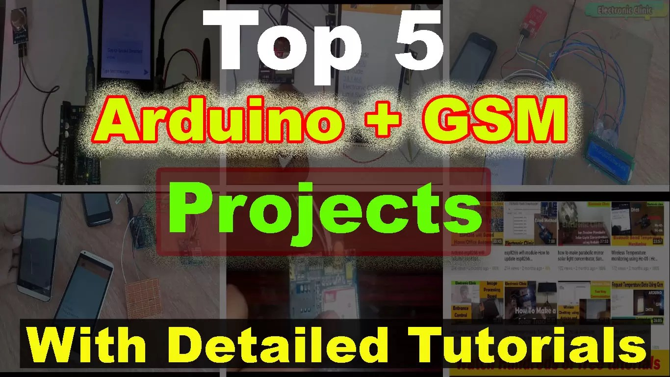 Arduino GSM Top 5 Projects off all time with tutorials