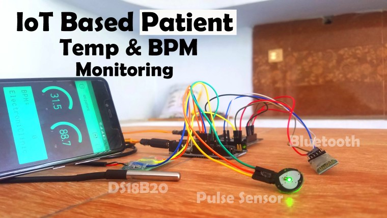 IoT based Patient monitoring System using ESP8266, Arduino
