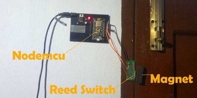 IoT Door Sensor Reed Switch based Security System using Nodemcu