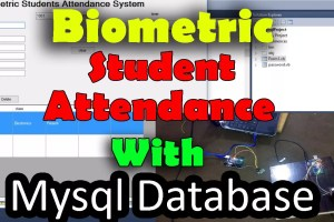 Biometric Student Attendance System with Database