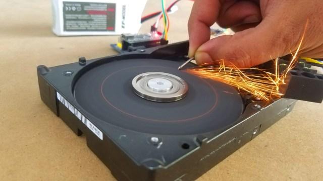 Hard disk Motor paper sander testing
