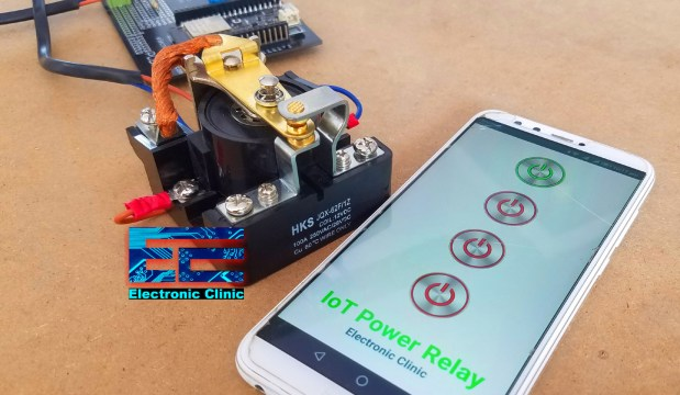IoT Power relay 100A relay and android app
