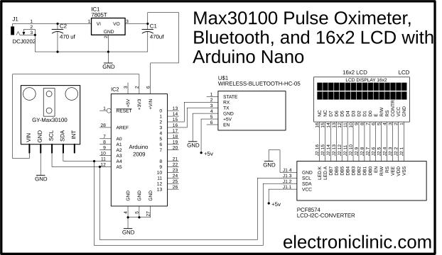 Bluetooth Pulse Oximeter Max30100