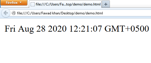 Date Object in Javascript