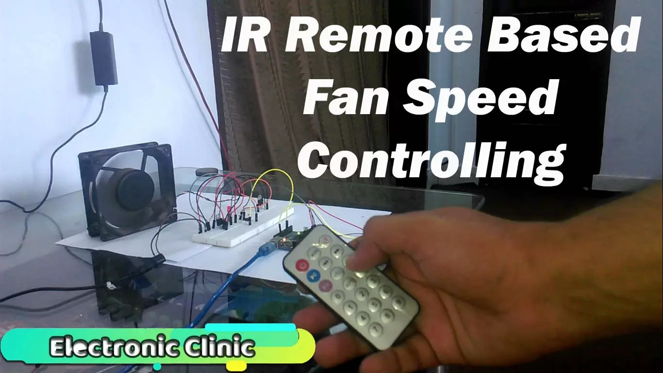 Arduino IR Remote based Fan speed controlling, Library, circuit, & code
