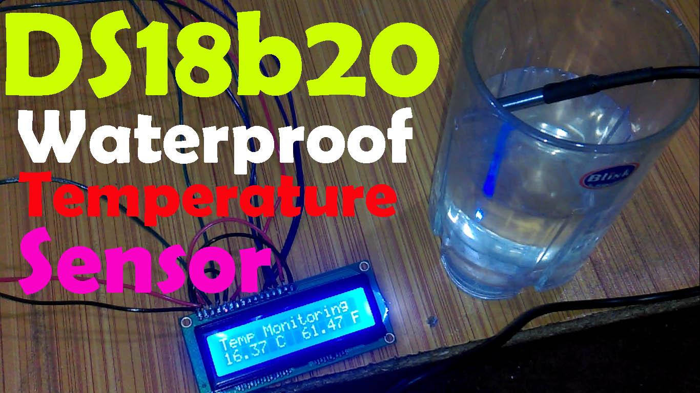 Arduino DS18B20 digital Temperature Sensor Library wiring