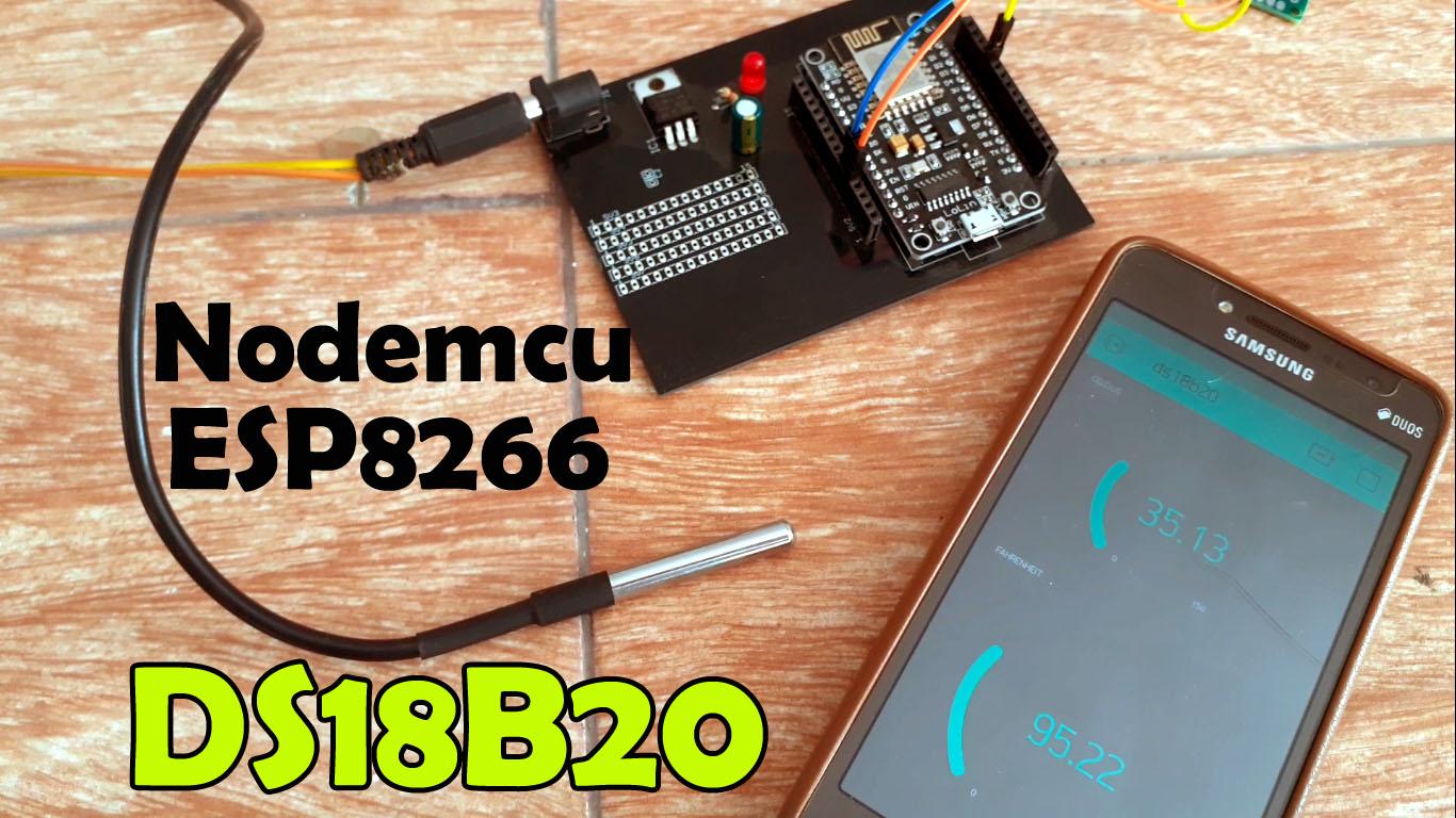 Nodemcu ESP8266 DS18b20 Waterproof Temperature Sensor Monitoring