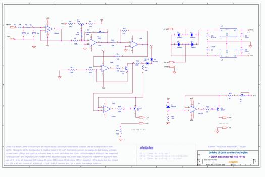 Mini RTD Pt-100 Three Wire Transmitter