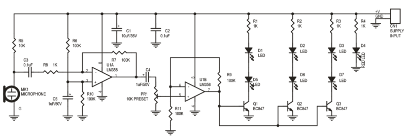 SOUND-TO-LIGHT-EFFECT-SCHEMATIC