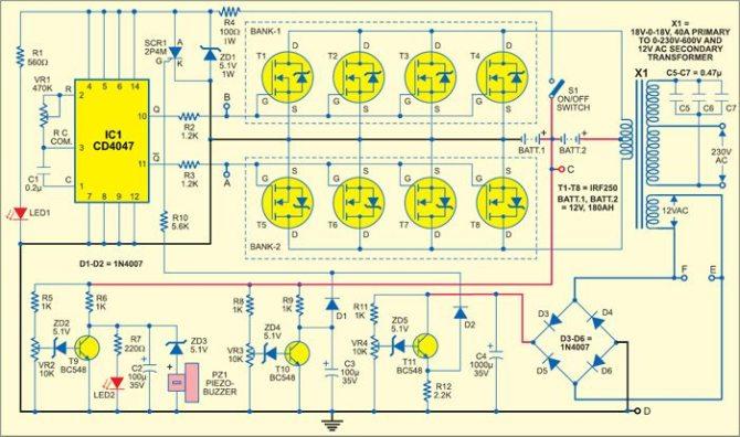 make your own sine wave inverter  full inverter circuit