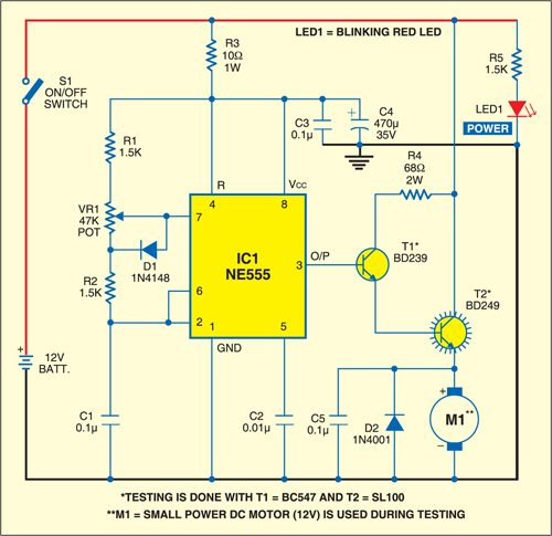 dc motor speed controller  detailed circuit diagram available