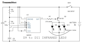 IR (Infrared) Remote Control Switch Circuit and Applications