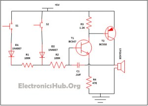 Simple Security Alarm Circuit Working and Applications