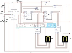Simple Digital Stopwatch Circuit Working and Applications