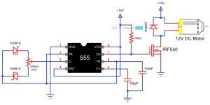 Speed Control of DC Motor Using Pulse Width Modulation, 555