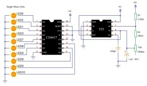 LED Knight Rider Circuit | LED Running Light|Led Chaser Circuit|Two Way Running LED