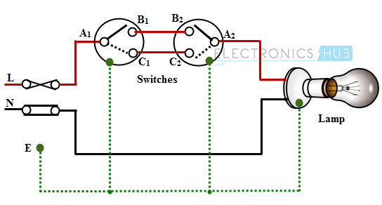 electrical wiring circuits  switch diagram •
