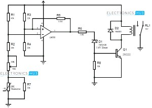Wiring Motor Control Circuit With Thermistors  impremedia