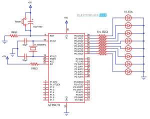 Interfacing LED with 8051 Microcontroller Circuit