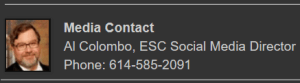 contact info for Al Colombo, ESC media director (image)