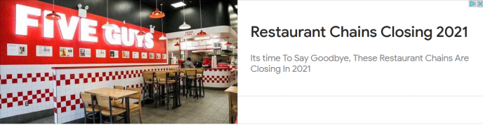 Restaurant Chains Closing 2021 Its time To Say Goodbye, These Restaurant Chains Are Closing In 2021 (image)