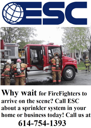 Why wait for firefighters to arrive. Call ESC about a fire sprinkler system today! (image)