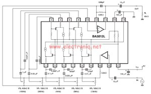 BA3812L graphic equalizer circuit diagram