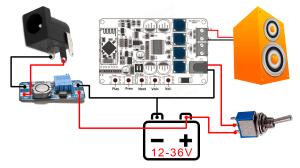 TDA7492p bluetooth portable speaker tutorial