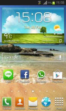 Capturar pantalla Galaxy S3 mini