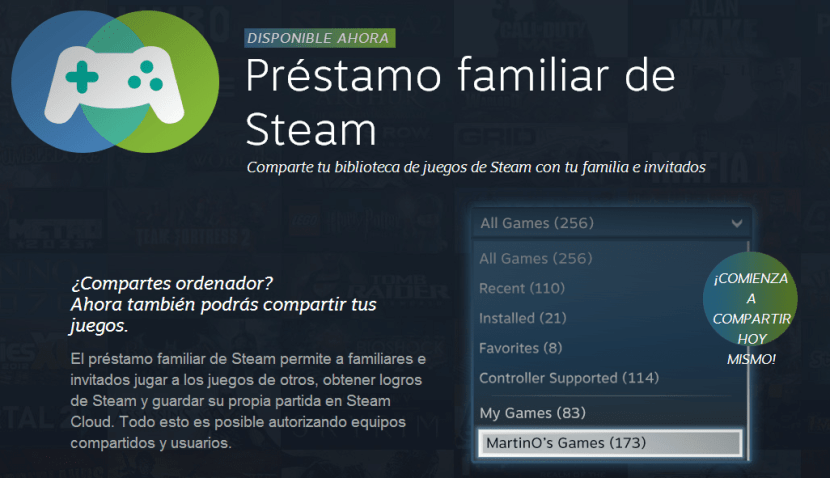 Préstamo familiar de Steam