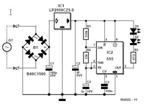 Bicycle RearLight Afterglow Circuit