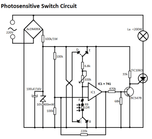 Light Sensitive Switch Circuit