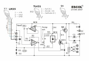 Temperature Controlled Relay Circuit