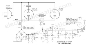 AC Relay Power Switch Circuit
