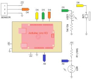 Arduino Night Security Alarm with PIR Sensor