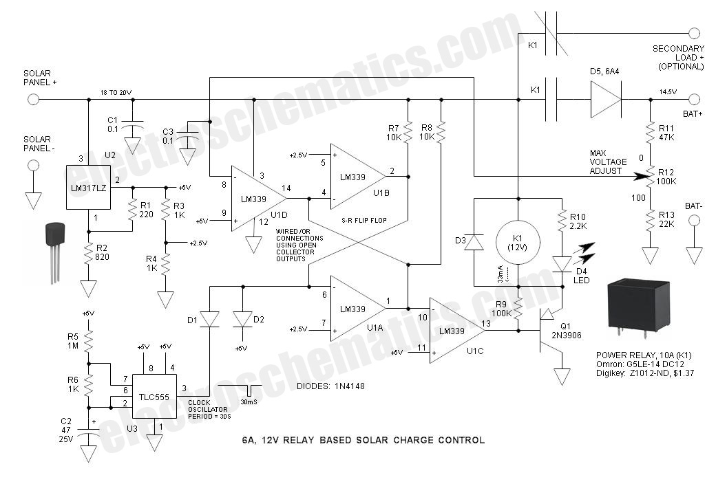 Charge Pwm Controller Circuit Solar Diagram