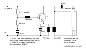 Fluorescent Lamp Driver Circuit and Project