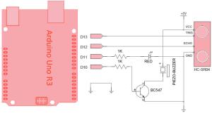 Arduino Ultrasonic Proximity Sensor