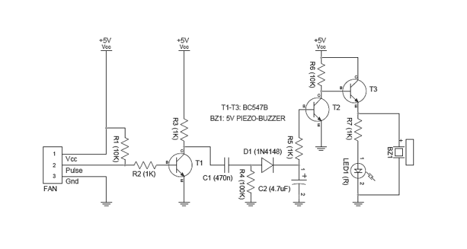 3wire cooling fan monitor circuit