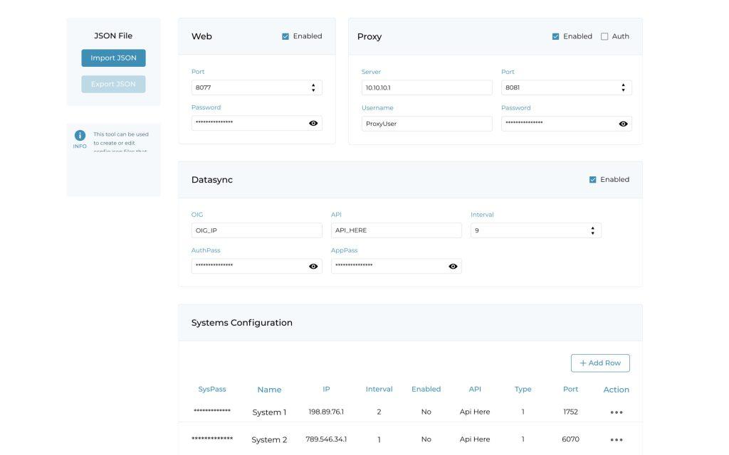 JSON Config Tool V@