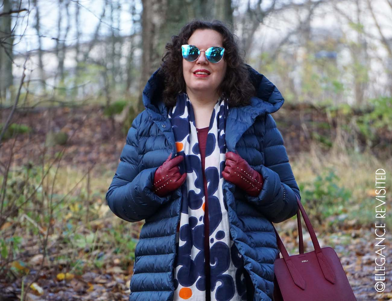 how to accessorize a down jacket