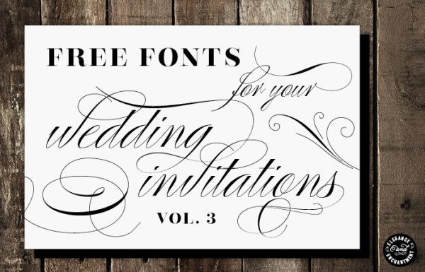 free wedding fonts # 49