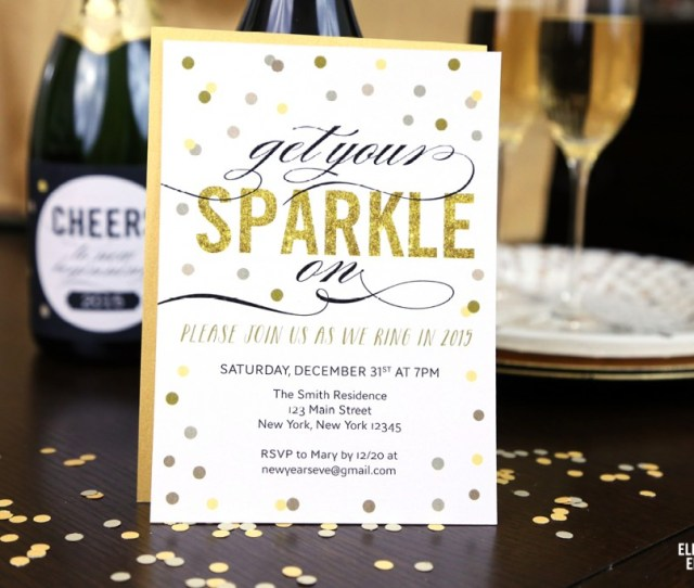 Free Printable New Years Eve Party Invitation From Elegance And Enchantment Customizable In Adobe Reader
