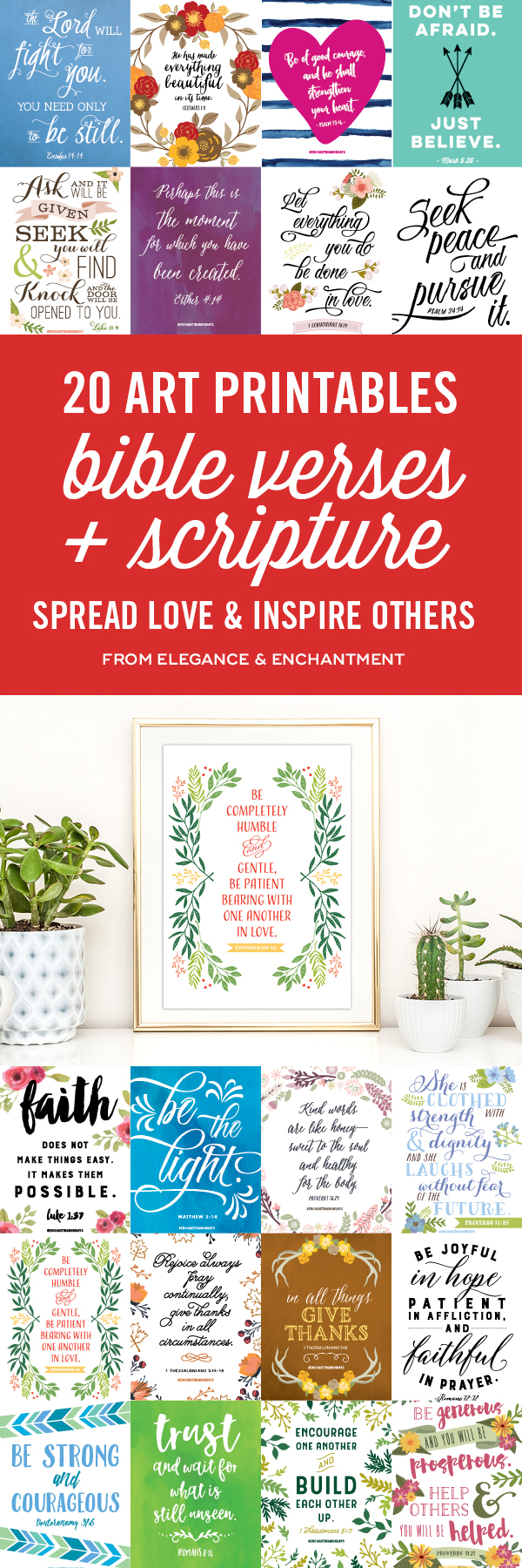 20 Bible Verse And Scripture Art Printables Elegance